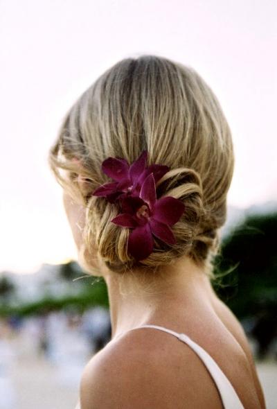 Прическа цветок