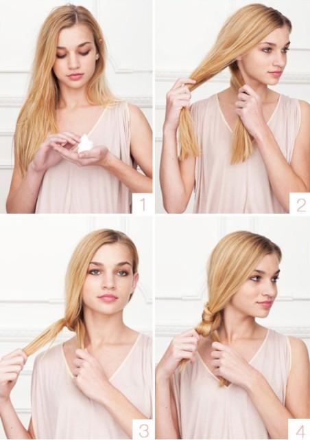 Легкая прическа на длинные волосы, пошаговое фото
