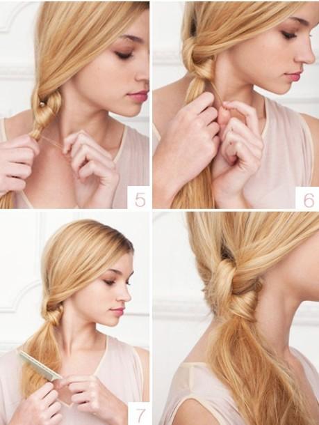 Легкая прическа для длинных волос, пошаговое фото