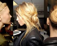 Прическа гулька из волос, фото
