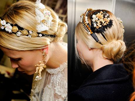 Модные прически осень 2012 от Dolce & Gabbana (2)