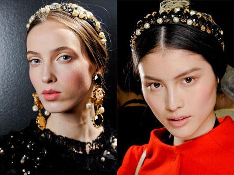 Модные прически осень 2012 от Dolce & Gabbana (1)
