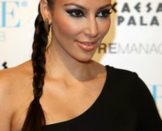Коса в стиле Ким Кардашьян
