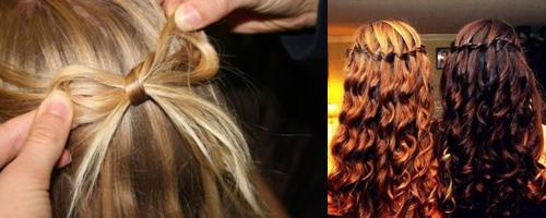 Ванильные прически: пучок, хвост, коса