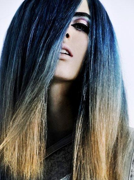 Колорирование на кончиках волос