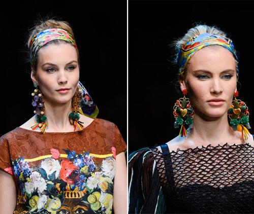 Модные повязки для волос 2013 года