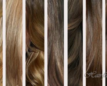 Русые оттенки волос