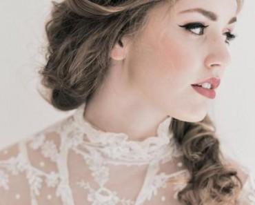 Свадебные распущенные волосы