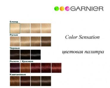 Цвета краски для волос Гарньер