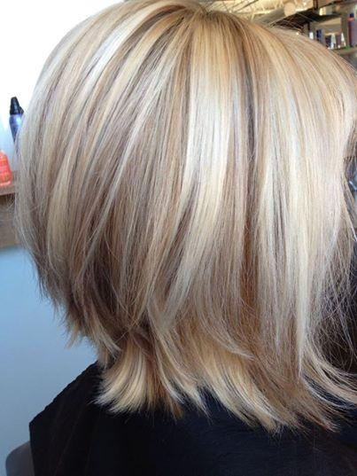 Каре, светлые волосы