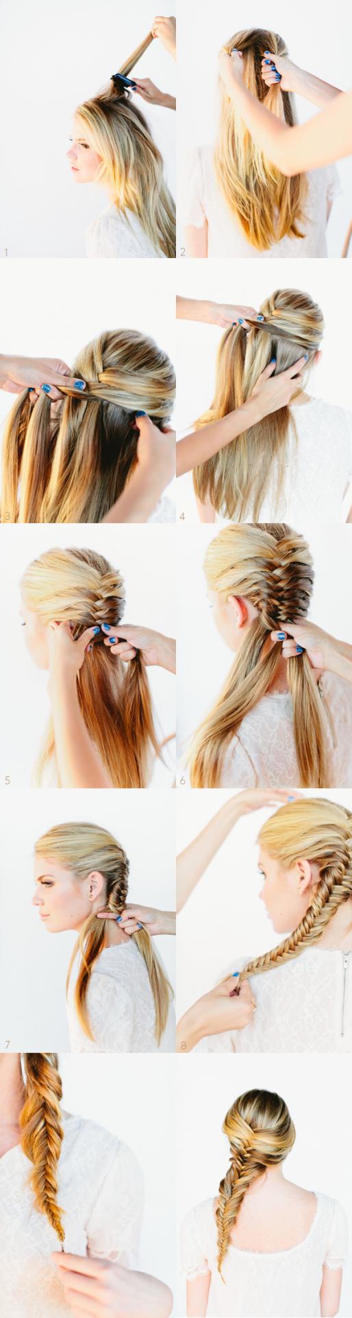 Косое плетение волос (16)