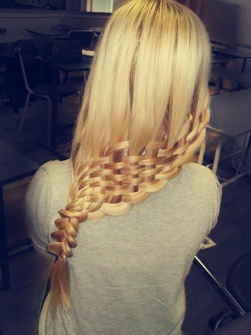 Косое плетение волос (12)