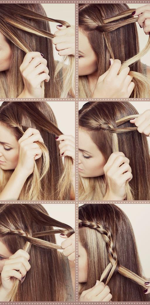 Косое плетение волос (10)