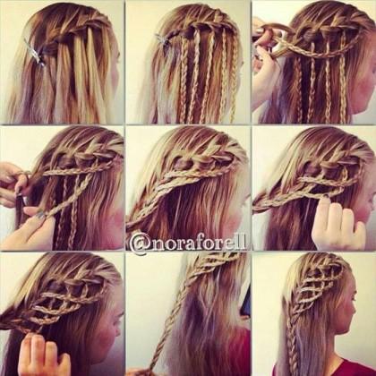 Косое плетение волос (9)