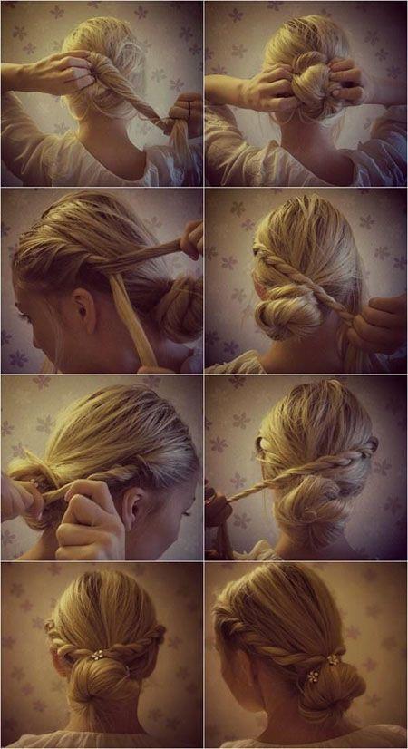 Косое плетение волос (8)