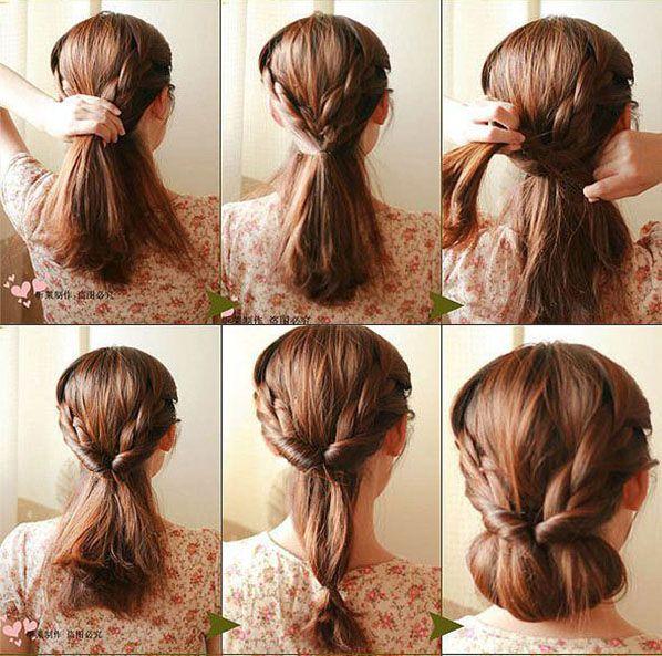 Косое плетение волос (6)