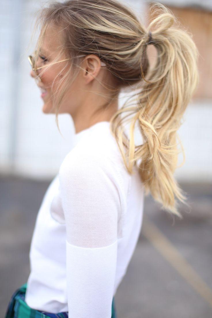 Хвост на короткие волосы (7)