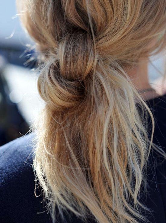 Хвост на короткие волосы (2)