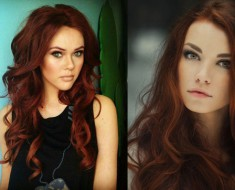 Темно-рыжий цвет волос