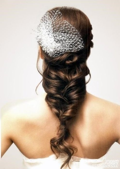 Cвадебные прически на средние волосы, фото