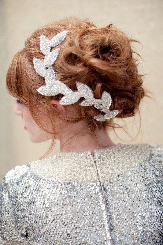 Cвадебные прически на средние волосы, фото (15)