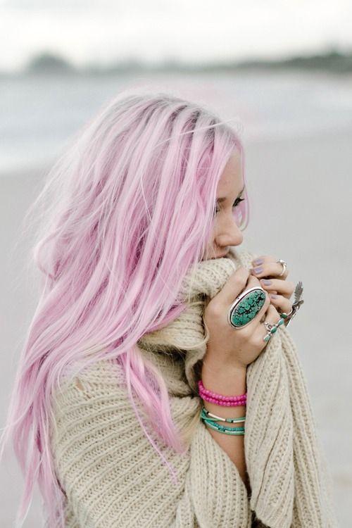 Сиреневые волосы