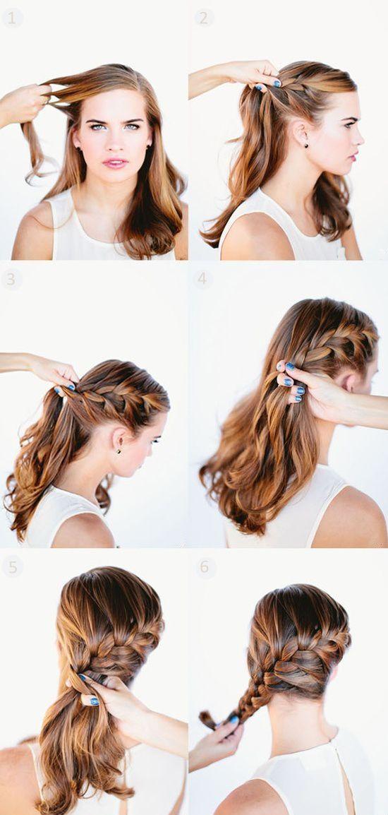 Волосы на одну сторону: прически
