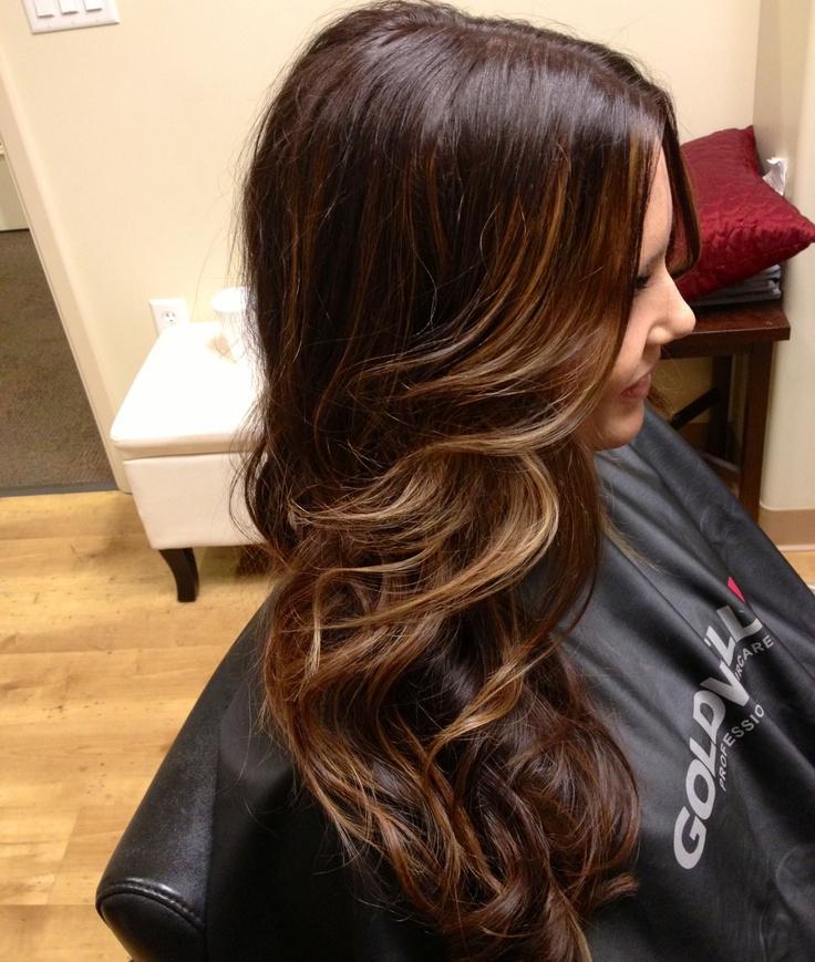 Мелирование на черные волосы (10)