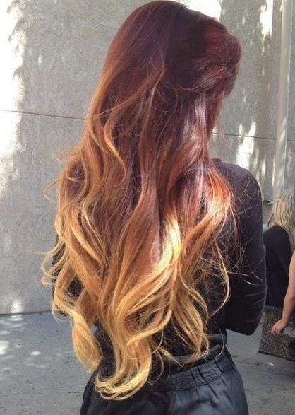 Черно-рыжие волосы