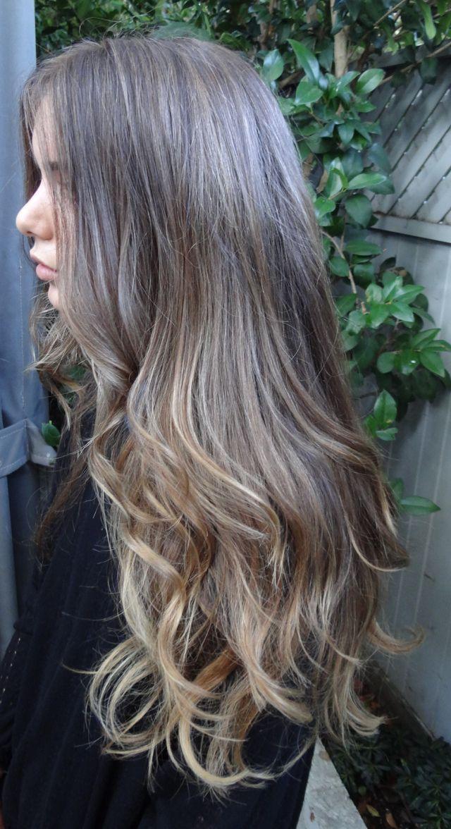 Омбре на русые волосы, фото