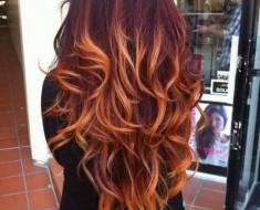 Колорирование рыжих волос