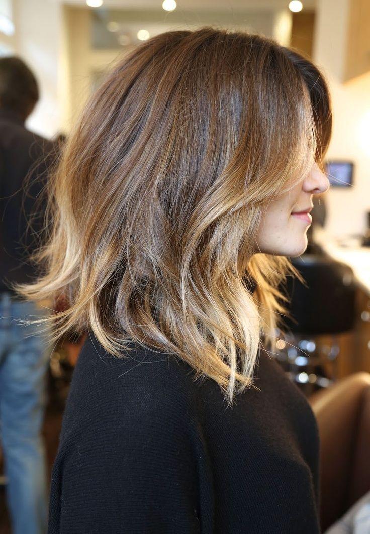 прически с омбре фото на средние волосы куда