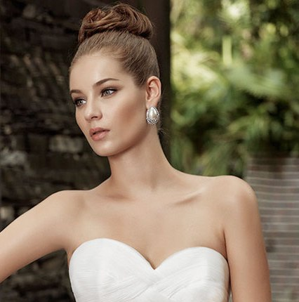 Свадебные прически 2015