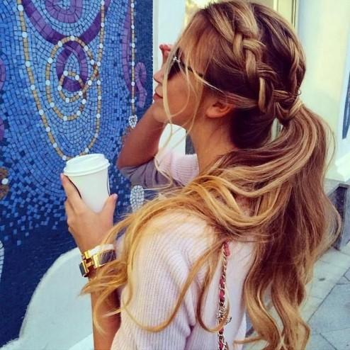 Колосок из волос
