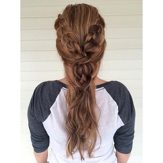 Прически из косичек на длинные волосы