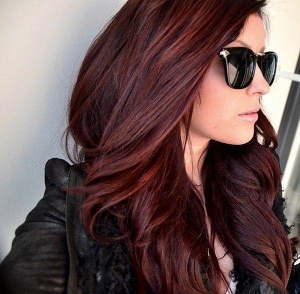 Темно-красные волосыТемно-красные волосы