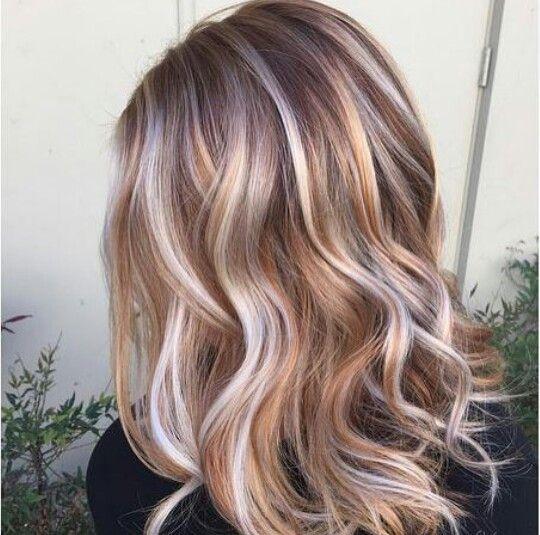 Оттенки волос 2017