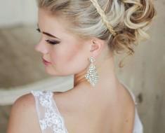 Свадебные прически для волос средней длины 2017