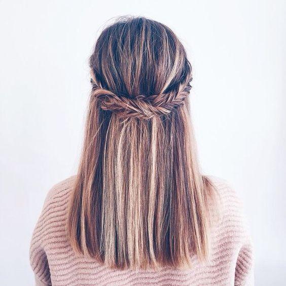 Новогодние прически для средних волос 2017