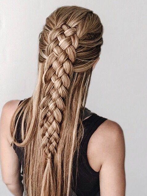 косы в три пряди