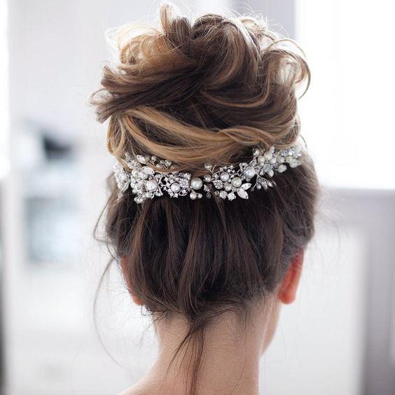 Свадебные прически для коротких волос 2017