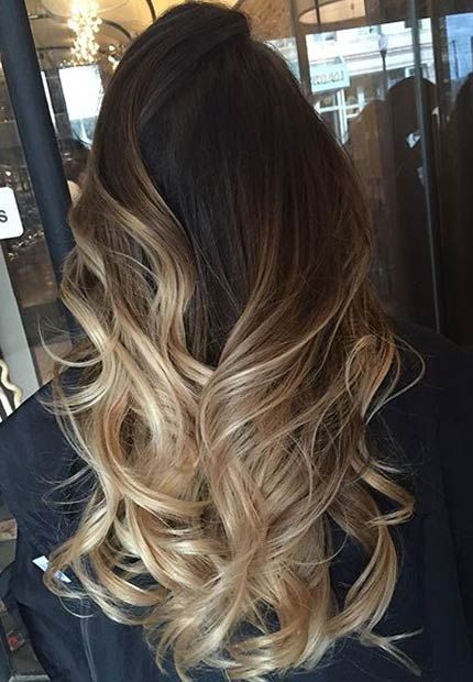 Окрашивание темных волос 2017