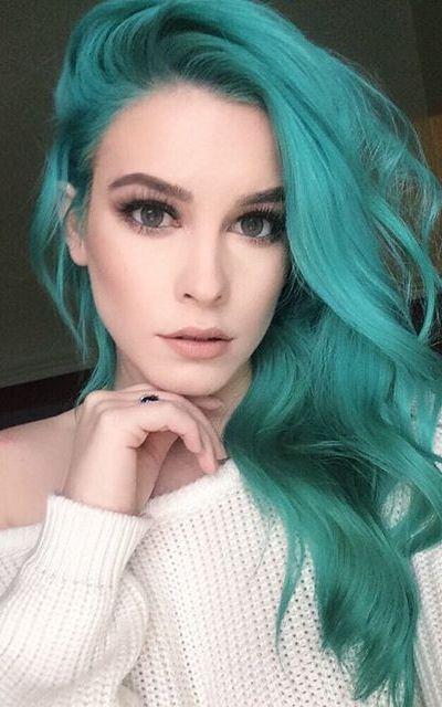 Зеленый цвет волос