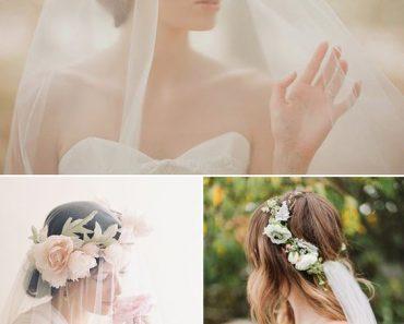 Свадебные прически 2018 с фатой