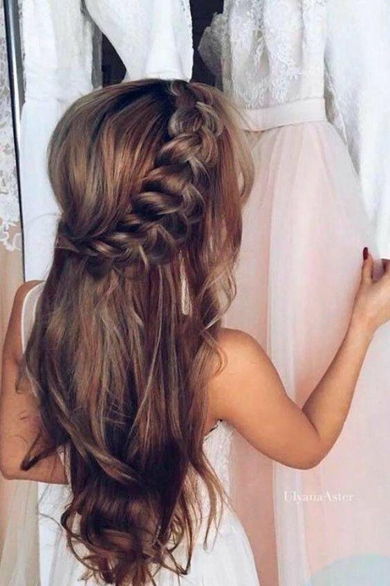 Новогодние причёски на длинные волосы 2018