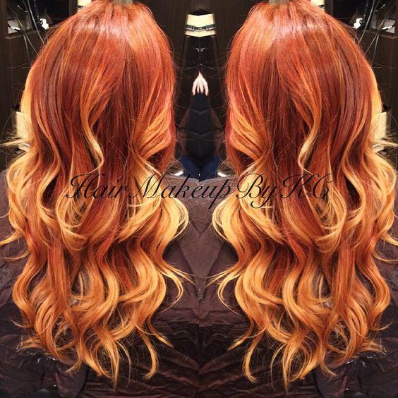 Рыжий цвет волос 2018