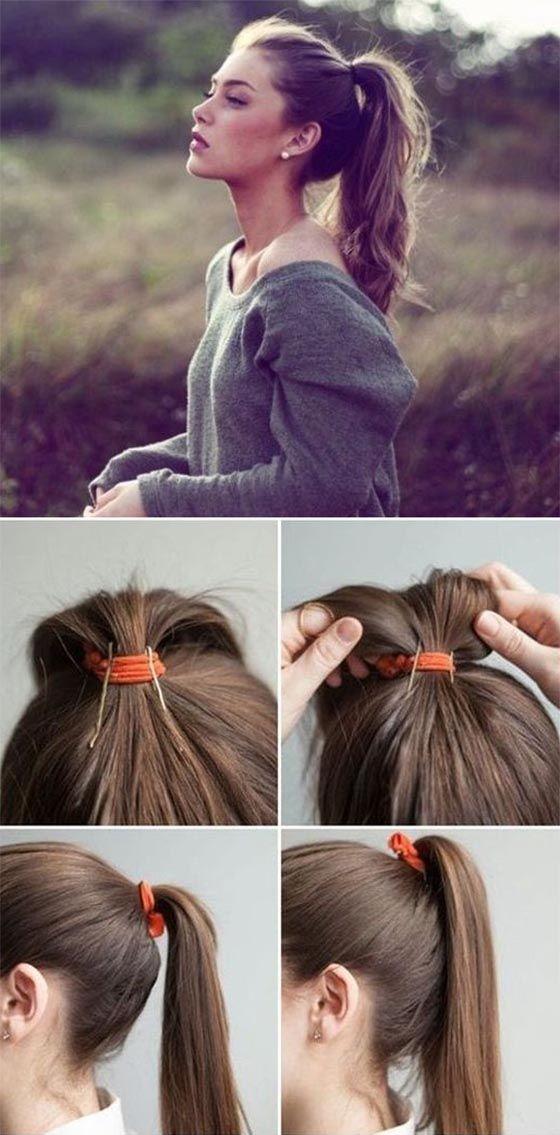 Лёгкие причёски в школу