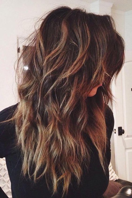 Длинные темные волосы, фото