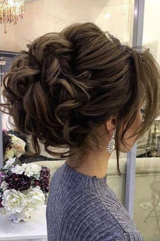 Свадебные прически на средние волосы 2018 (40)