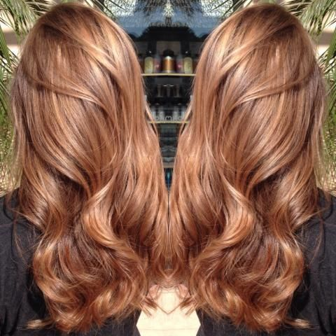 Темно-карамельный цвет волос (49)
